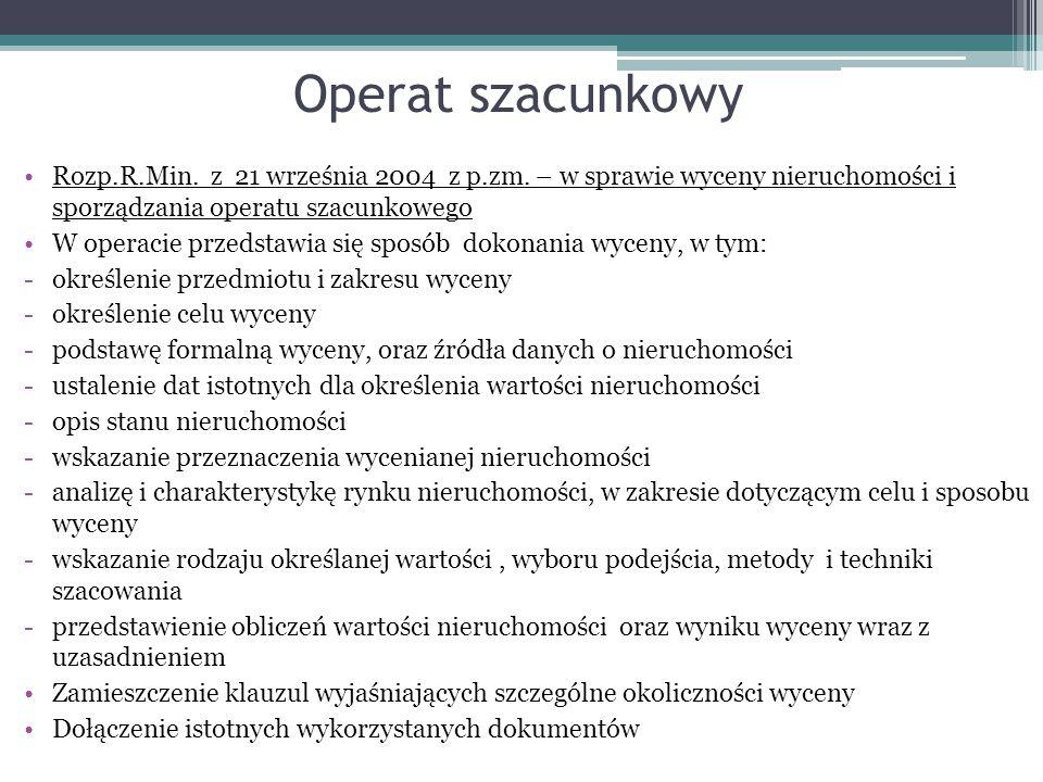 Operat szacunkowy Rozp.R.Min.z 21 września 2004 z p.zm.