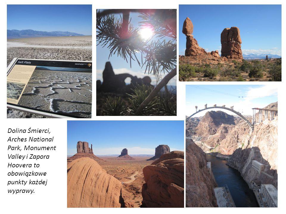 Dolina Śmierci, Arches National Park, Monument Valley i Zapora Hoovera to obowiązkowe punkty każdej wyprawy.