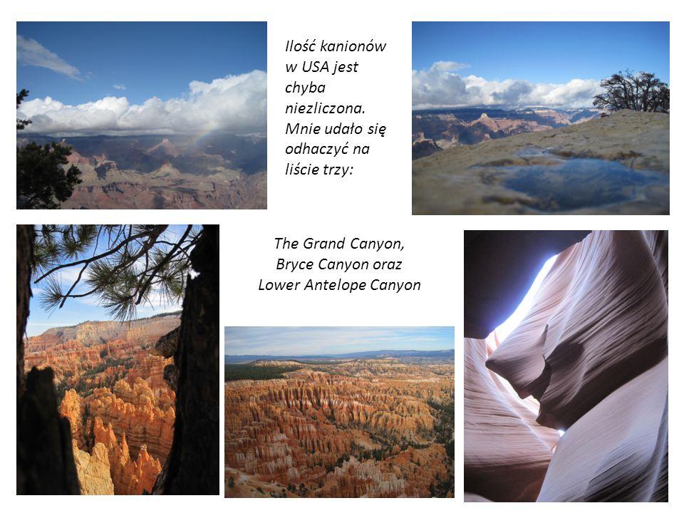 Ilość kanionów w USA jest chyba niezliczona. Mnie udało się odhaczyć na liście trzy: The Grand Canyon, Bryce Canyon oraz Lower Antelope Canyon