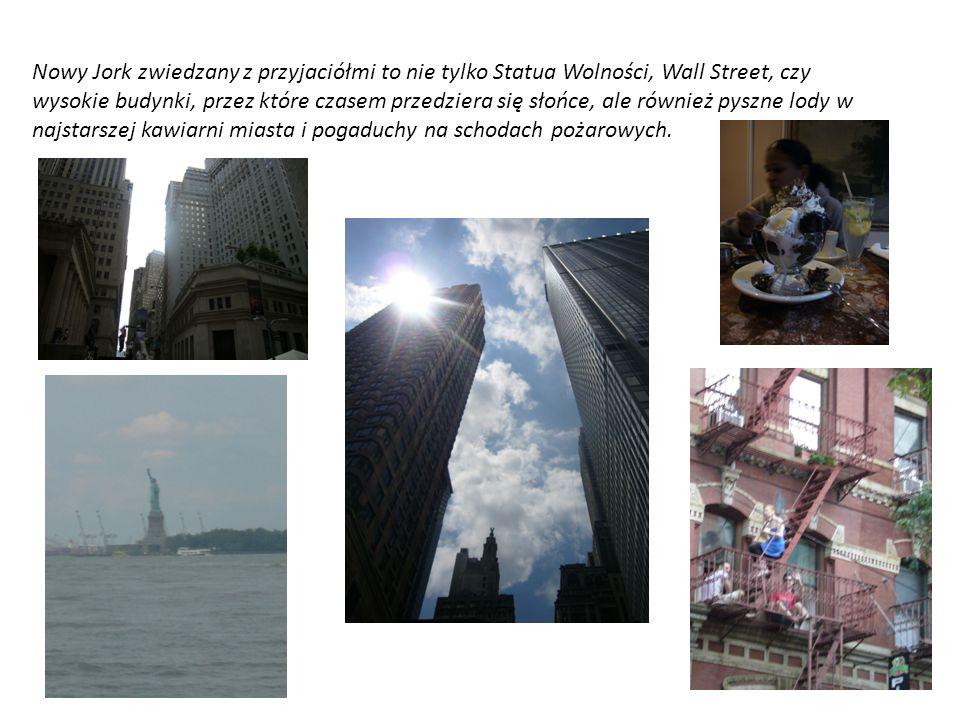 Nowy Jork zwiedzany z przyjaciółmi to nie tylko Statua Wolności, Wall Street, czy wysokie budynki, przez które czasem przedziera się słońce, ale równi