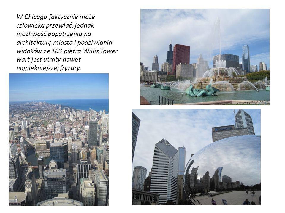W Chicago faktycznie może człowieka przewiać, jednak możliwość popatrzenia na architekturę miasta i podziwiania widoków ze 103 piętra Willis Tower war