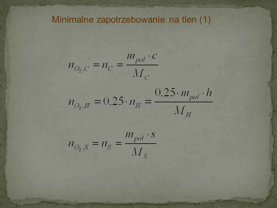 Minimalne zapotrzebowanie na tlen (1)