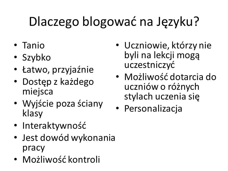 Dlaczego blogować na Języku.