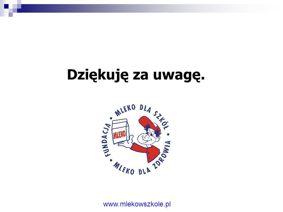 www.mlekowszkole.pl Działania w przyszłości – cele: 1)oddziaływanie na wzrost spożycia mleka i jego wyrobów wśród dzieci i młodzieży, 2) wspieranie i