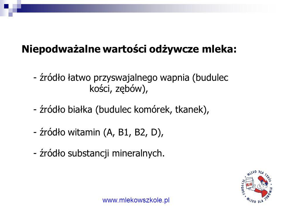 Za spożywaniem mleka przemawiają fakty. www.mlekowszkole.pl