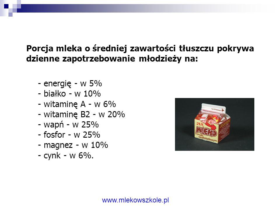 Niepodważalne wartości odżywcze mleka: - źródło łatwo przyswajalnego wapnia (budulec kości, zębów), - źródło białka (budulec komórek, tkanek), - źródł