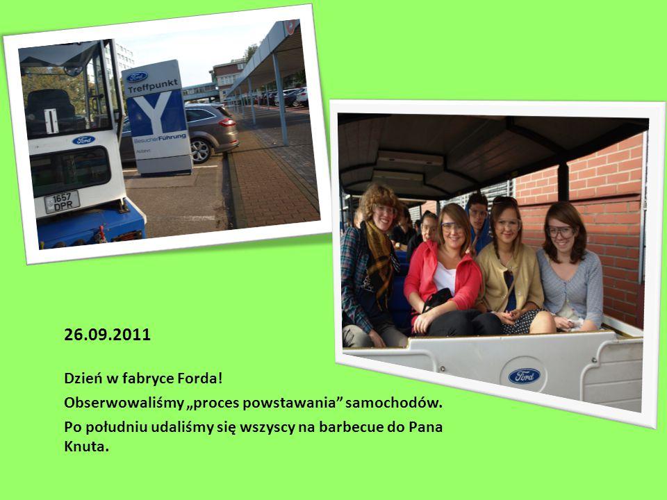 """26.09.2011 Dzień w fabryce Forda. Obserwowaliśmy """"proces powstawania samochodów."""
