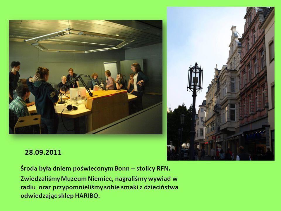 28.09.2011 Środa była dniem poświeconym Bonn – stolicy RFN.