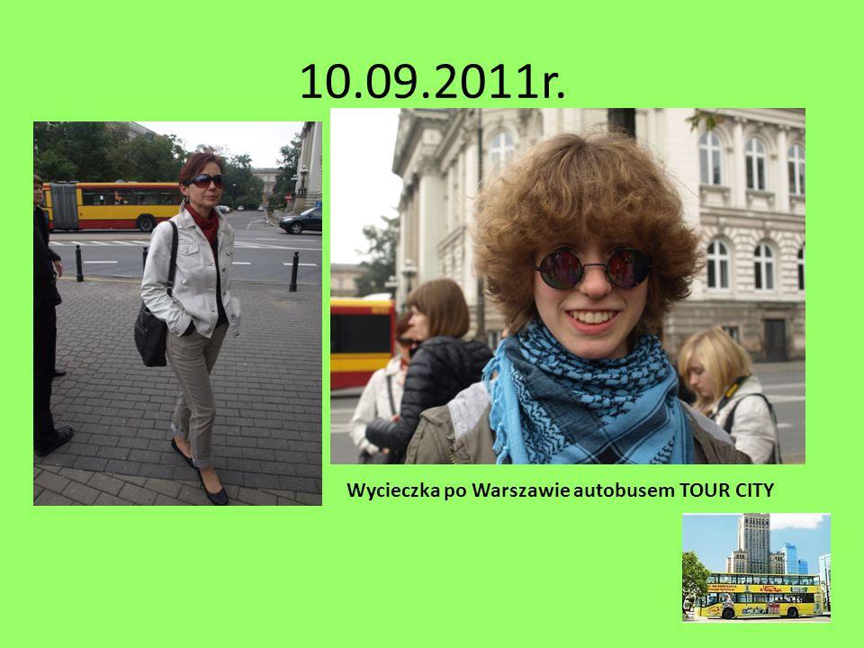 10.09.2011r. Wycieczka po Warszawie autobusem TOUR CITY