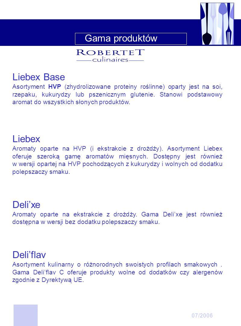 Liebex Base – HVP w proszku KodNazwaProfil smakowy 03347502Liebex Base KBulionHVP (rzepak) 03337001Liebex Base SSilny smak bulionuHVP (soja) 06351701Liebex Base SASilny smak bulionu HVP i substancje aromatyzujące 06351901Liebex Base SA 02Bulion HVP i substancje aromatyzujące