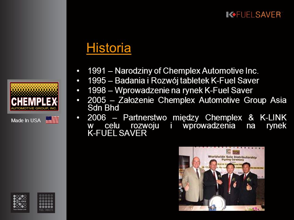 Historia 1991 – Narodziny of Chemplex Automotive Inc.