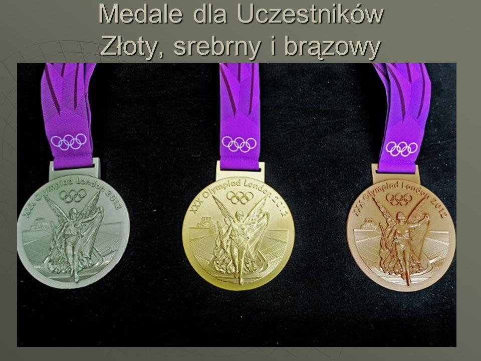 Medale dla Uczestników Złoty, srebrny i brązowy