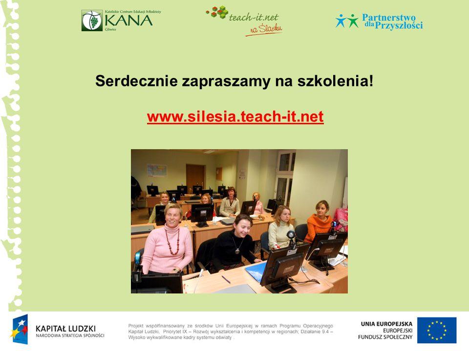 Serdecznie zapraszamy na szkolenia! www.silesia.teach-it.net