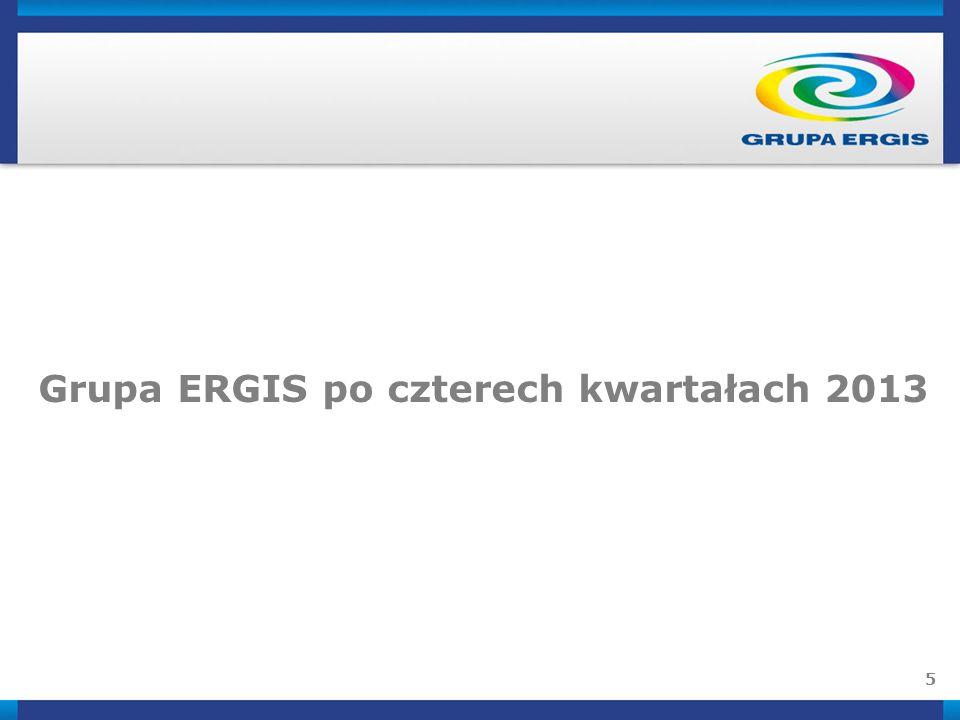 5 Grupa ERGIS po czterech kwartałach 2013