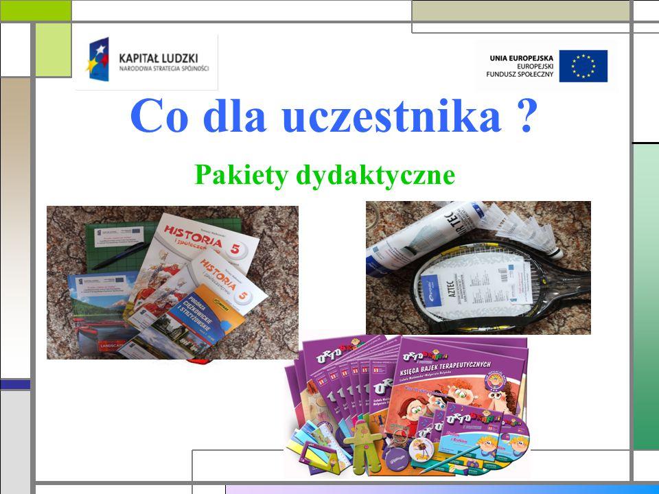 Co dla uczestnika ? Pakiety dydaktyczne