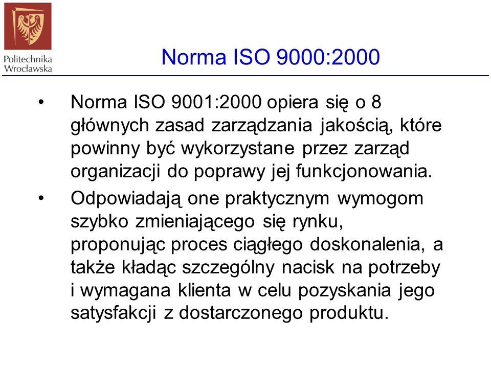 ISO 9000 w IT – ISO 9001-3 ISO 9001-3 jest modelem dla zapewnienia jakości w projektowaniu, rozwoju, produkcji, instalowaniu i serwisie oprogramowania