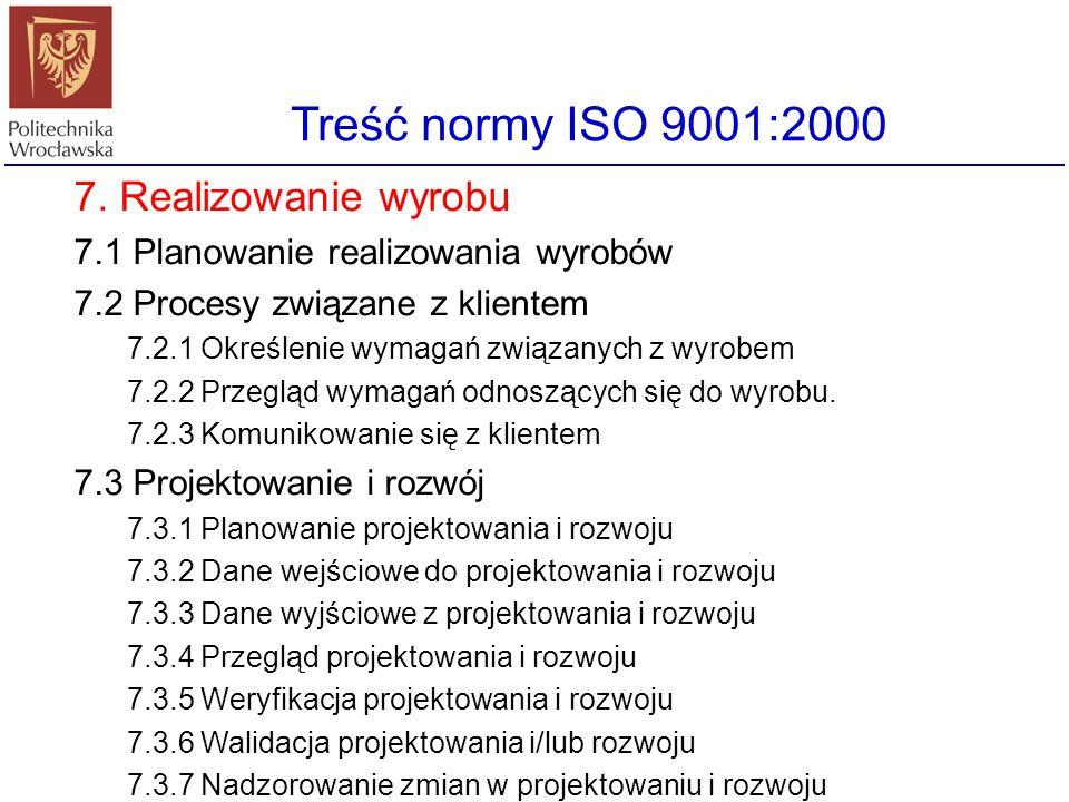 Treść normy ISO 9001:2000 6. Zarządzanie zasobami 6.1 Zabezpieczenie zasobów 6.2 Zasoby ludzkie 6.2.1 Postanowienia ogólne 6.2.2. Kompetencje, świadom