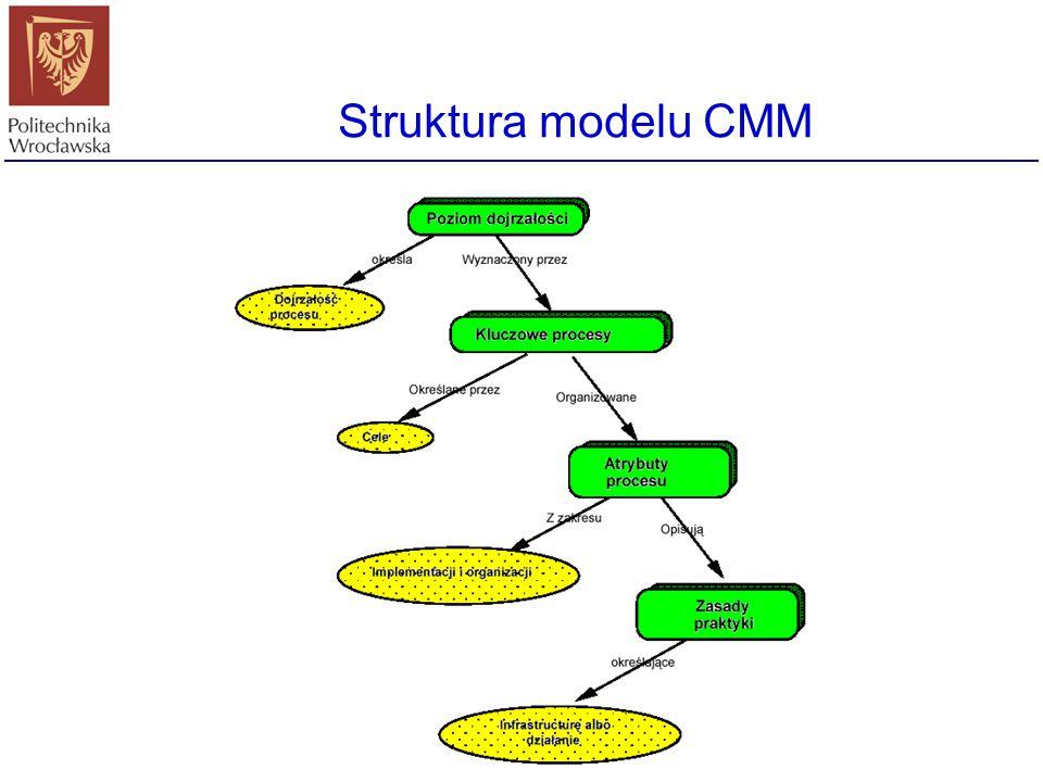 Założenia autorów CMM Ulepszanie procesu planowania, produkcji i pielęgnacji oprogramowania, Ocena procesu produkcji oprogramowania we własnej firmie,