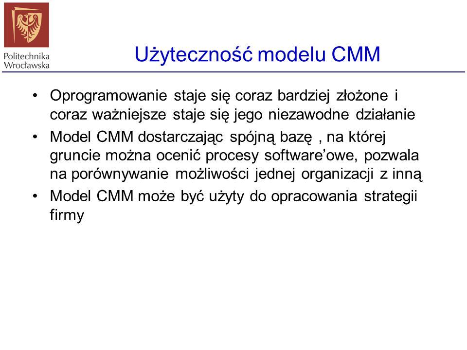 5. Poziom optymalizujący (dojrzałości CMM) Ciągłe doskonalenie procesów Metody mierzenia procesów - pozwalają na doskonalenie procesów istniejących, a