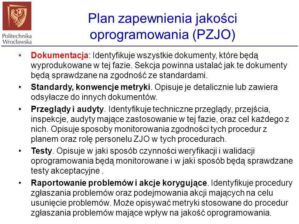 Cel: Sekcja ta powinna krótko określać: cel PZJO, rodzaj odbiorcy, produkty programistyczne podlegające PZJO, zamierzone użycie oprogramowania, fazę c