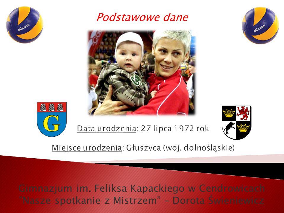 """Gimnazjum im. Feliksa Kapackiego w Cendrowicach """"Nasze spotkanie z Mistrzem"""" – Dorota Świeniewicz Podstawowe dane"""