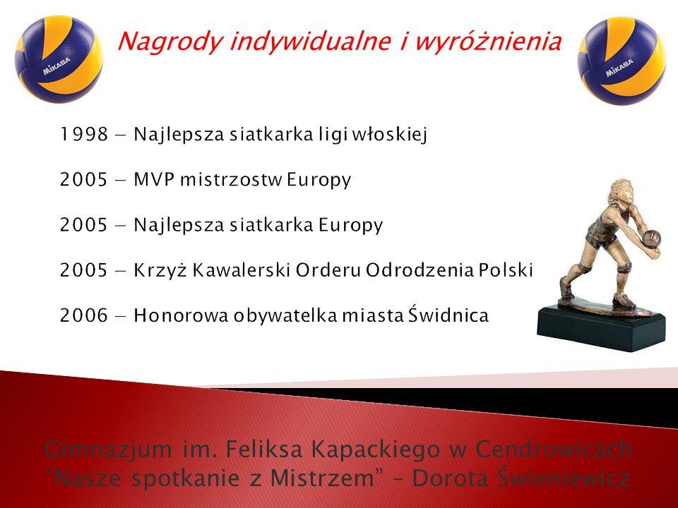 Nagrody indywidualne i wyróżnienia Gimnazjum im.