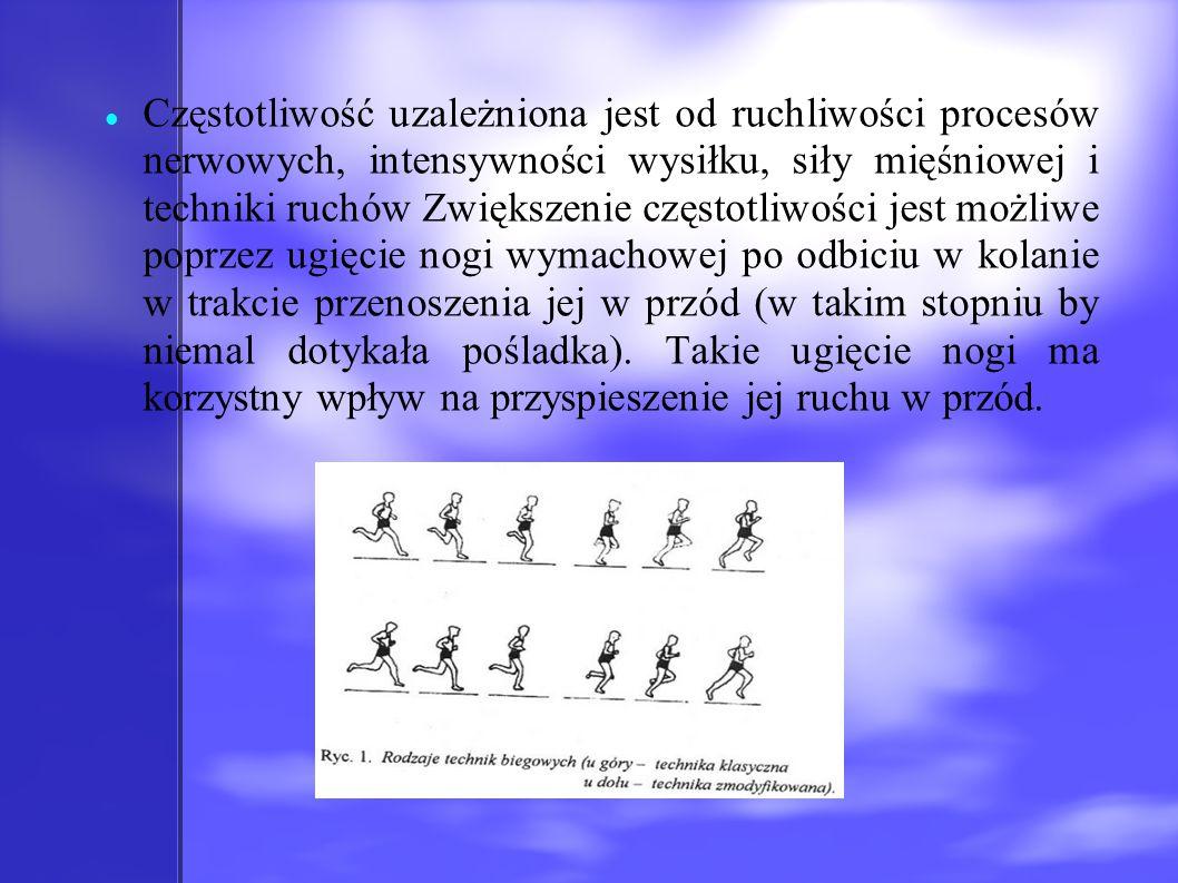 Częstotliwość uzależniona jest od ruchliwości procesów nerwowych, intensywności wysiłku, siły mięśniowej i techniki ruchów Zwiększenie częstotliwości