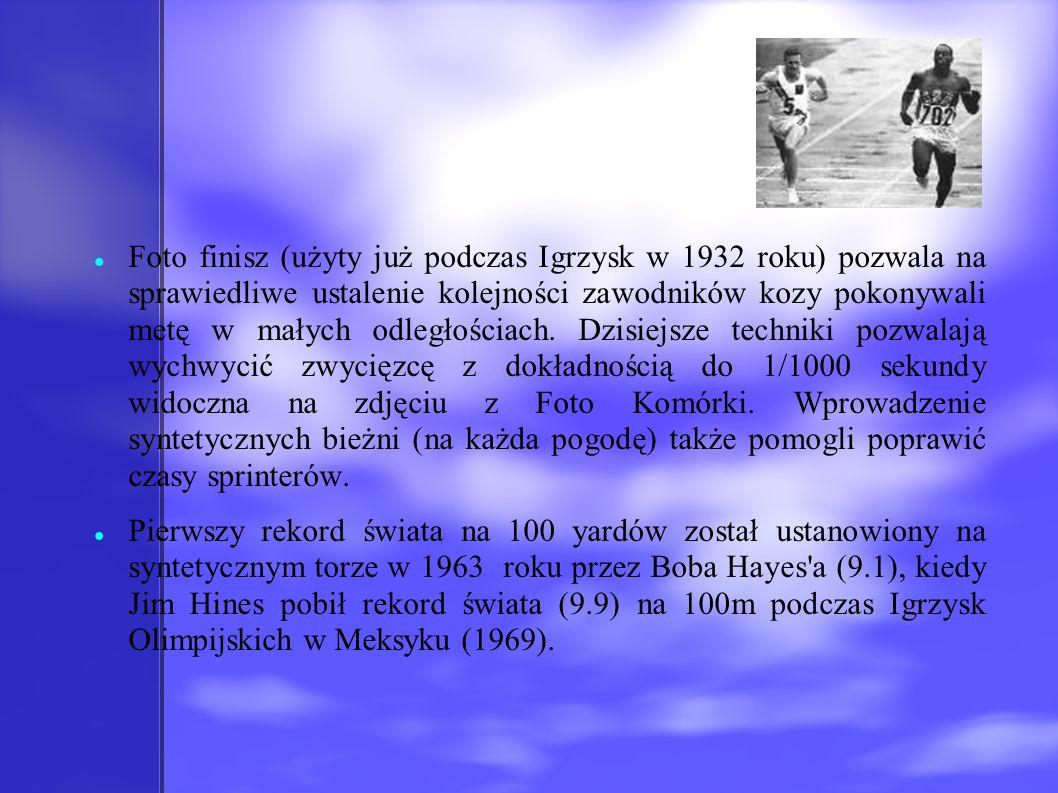 Foto finisz (użyty już podczas Igrzysk w 1932 roku) pozwala na sprawiedliwe ustalenie kolejności zawodników kozy pokonywali metę w małych odległościac