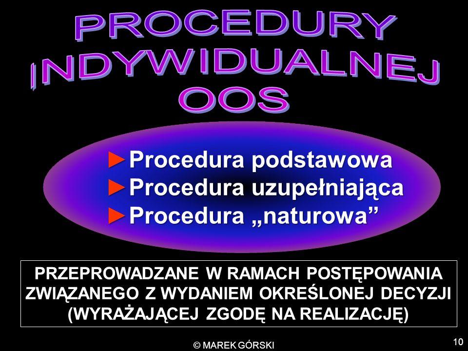 """10 ►Procedura podstawowa ►Procedura uzupełniająca ►Procedura """"naturowa"""" ►Procedura podstawowa ►Procedura uzupełniająca ►Procedura """"naturowa"""" PRZEPROWA"""