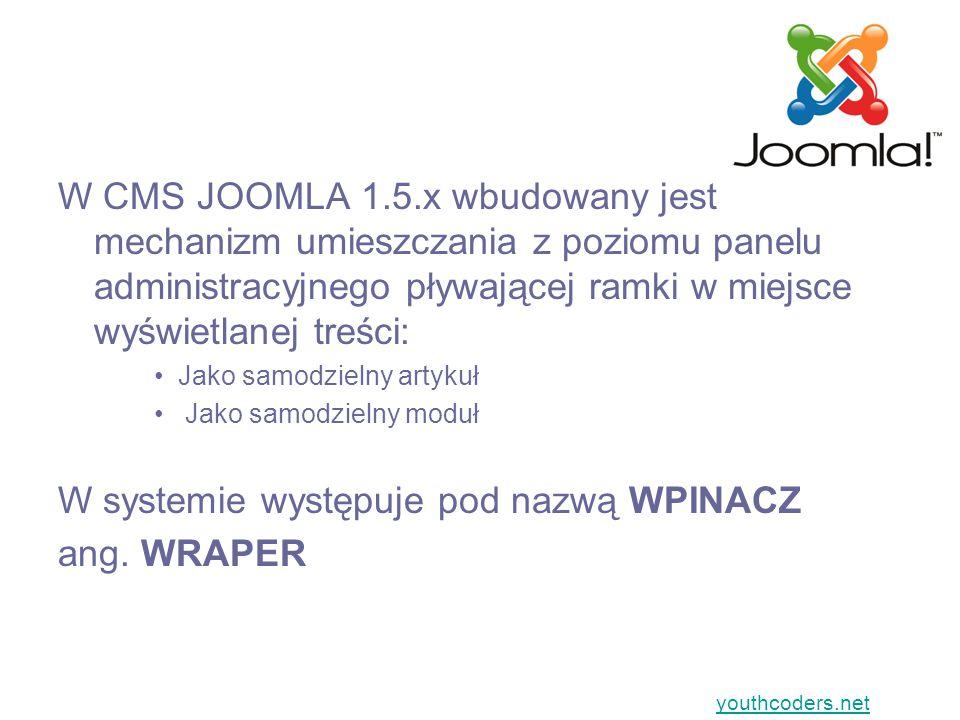 WPINACZ (WRAPER) jako samodzielny moduł… Jak to zrobić?... youthcoders.net