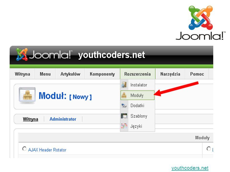youthcoders.net Gdy będziesz wyświetlać jako MODUŁ
