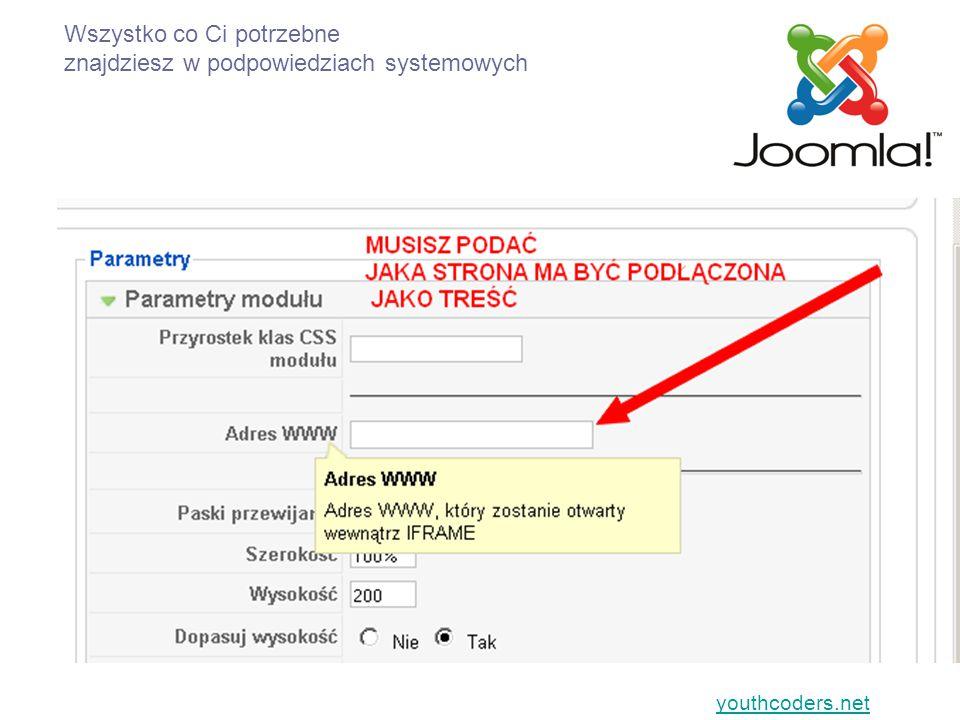 youthcoders.net Nie wiesz.…..pytaj: (zobacz kontakt w serwisie youthcoders.net) WIESZ.
