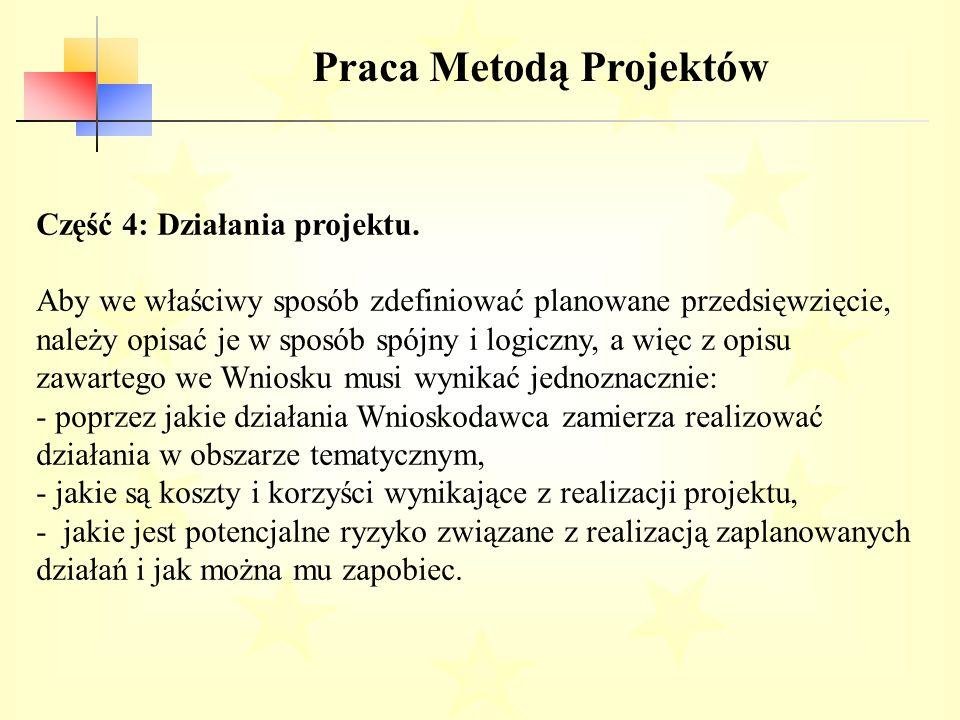 Praca Metodą Projektów Część 4: Działania projektu.
