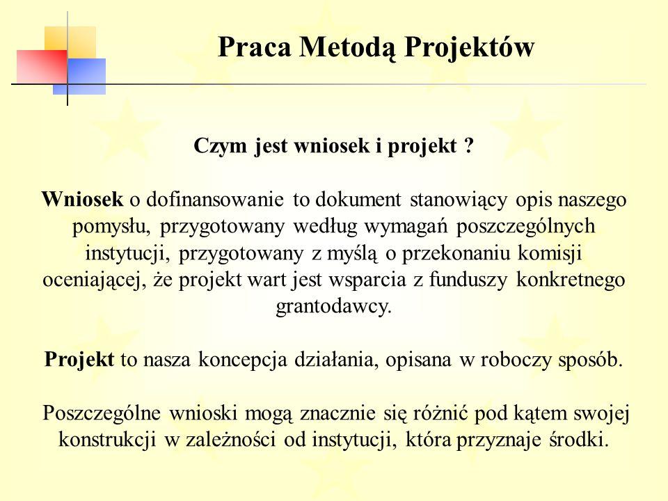 Praca Metodą Projektów Cechy każdego projektu: 1.