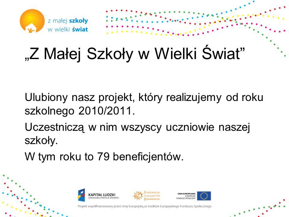 """Certyfikacja W ramach projektu """"Z Małej Szkoły w Wielki Świat w roku 2011/2012 przystąpiliśmy do Certyfikacji Małych Szkół Promujących Ruch Naukowy."""