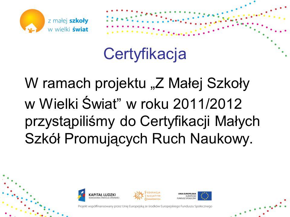 Działania certyfikacyjne