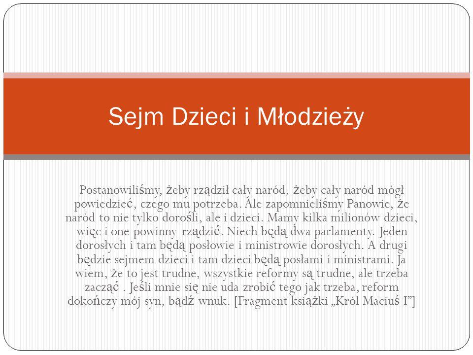 Czym jest SDiM.Sejm Dzieci i Młodzieży – akcja propagująca od 1994 r.