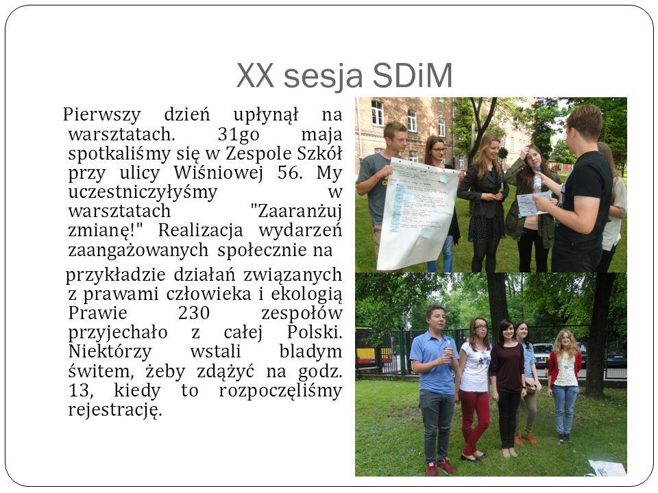 XX sesja SDiM Pierwszy dzień upłynął na warsztatach.