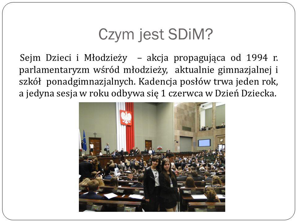 Jak wygląda SDiM.SDiM składa się, tak jak Sejm RP, z 460 posłów.