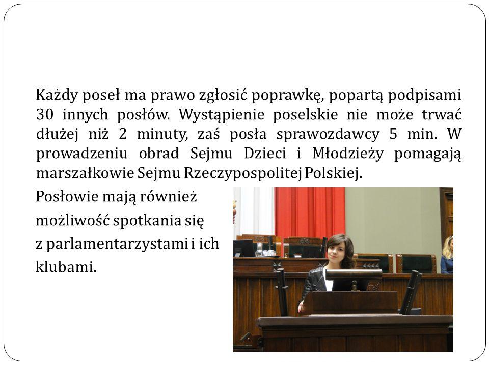 Sejm Dzieci i Młodzieży w Polsce to pierwsze tego typu przedsięwzięcie i inicjatywa w Europie.