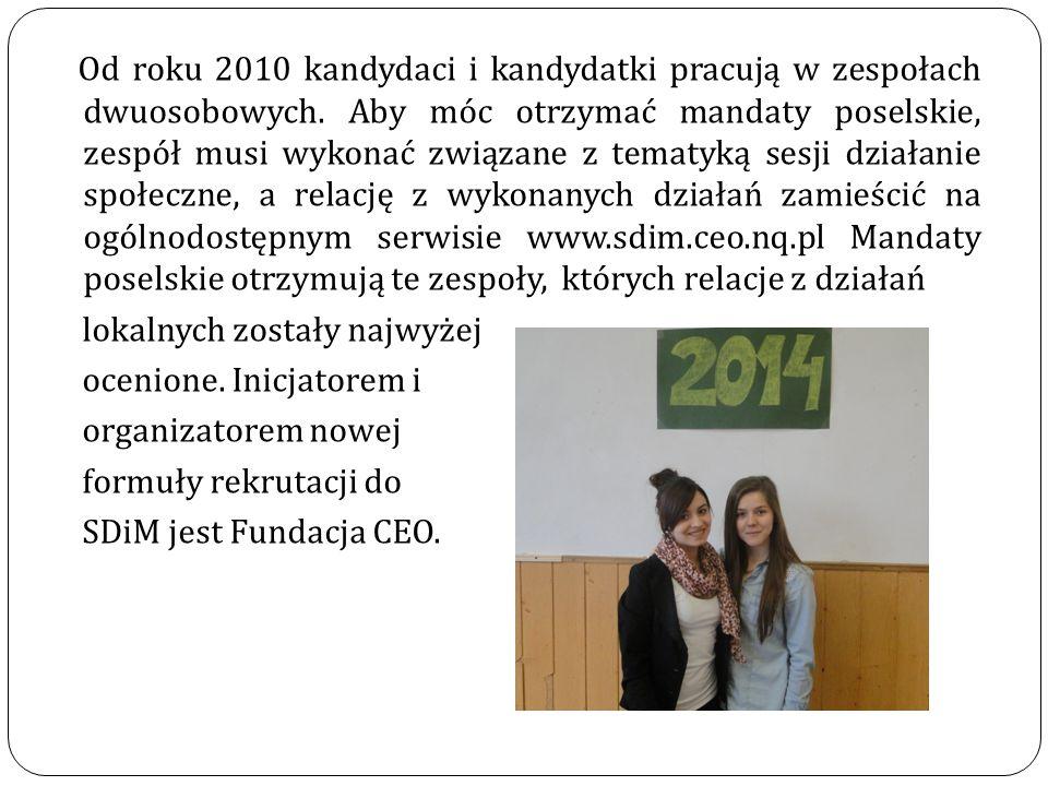 W 2010 r.powołano jedną komisję składającą się z 80 posłów.