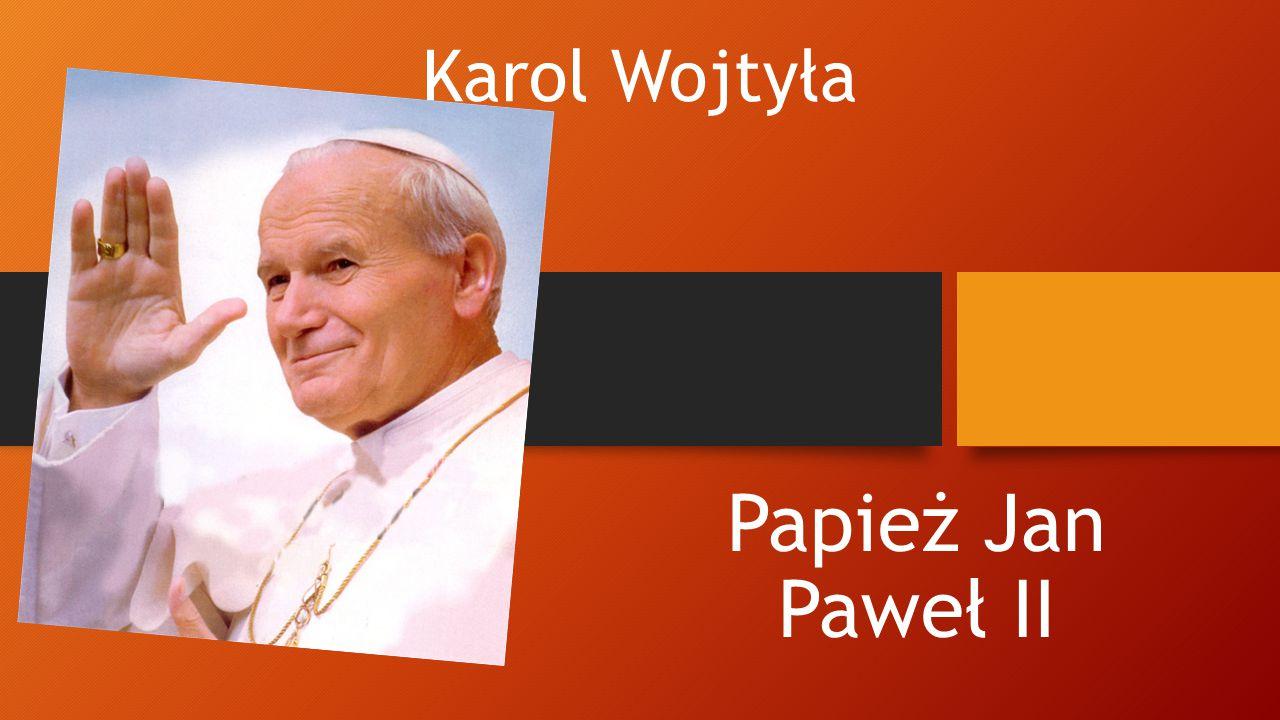 Papież jako piłkarz Jak każdy chłopak Karol Wojtyła uganiał się za piłką.