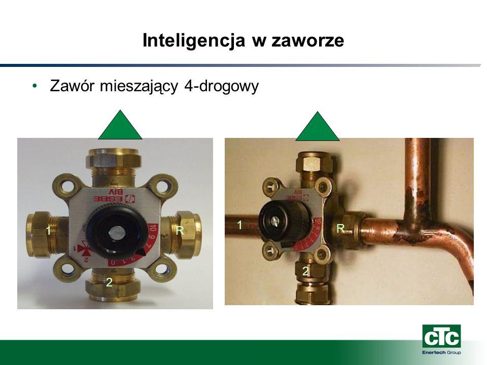 Inteligencja w zaworze Zawór mieszający 4-drogowy R 2 1 1 2 R