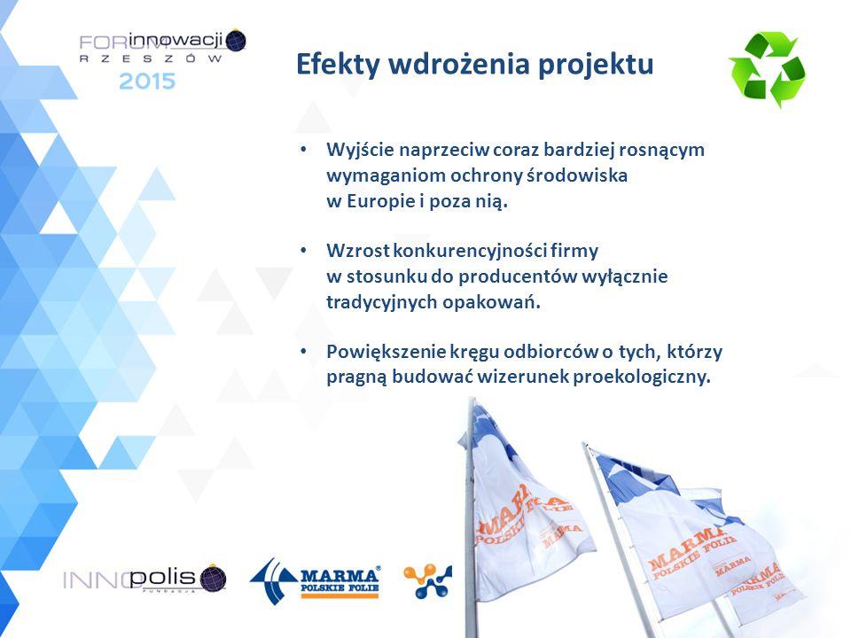 Efekty wdrożenia projektu Wyjście naprzeciw coraz bardziej rosnącym wymaganiom ochrony środowiska w Europie i poza nią. Wzrost konkurencyjności firmy