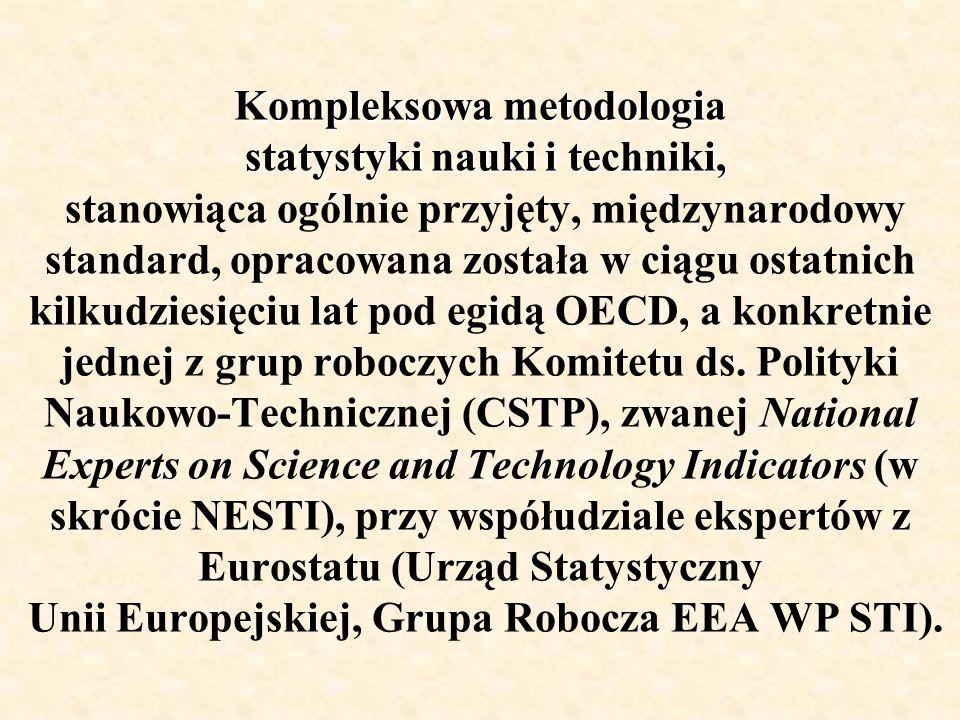 Kompleksowa metodologia statystyki nauki i techniki, Kompleksowa metodologia statystyki nauki i techniki, stanowiąca ogólnie przyjęty, międzynarodowy