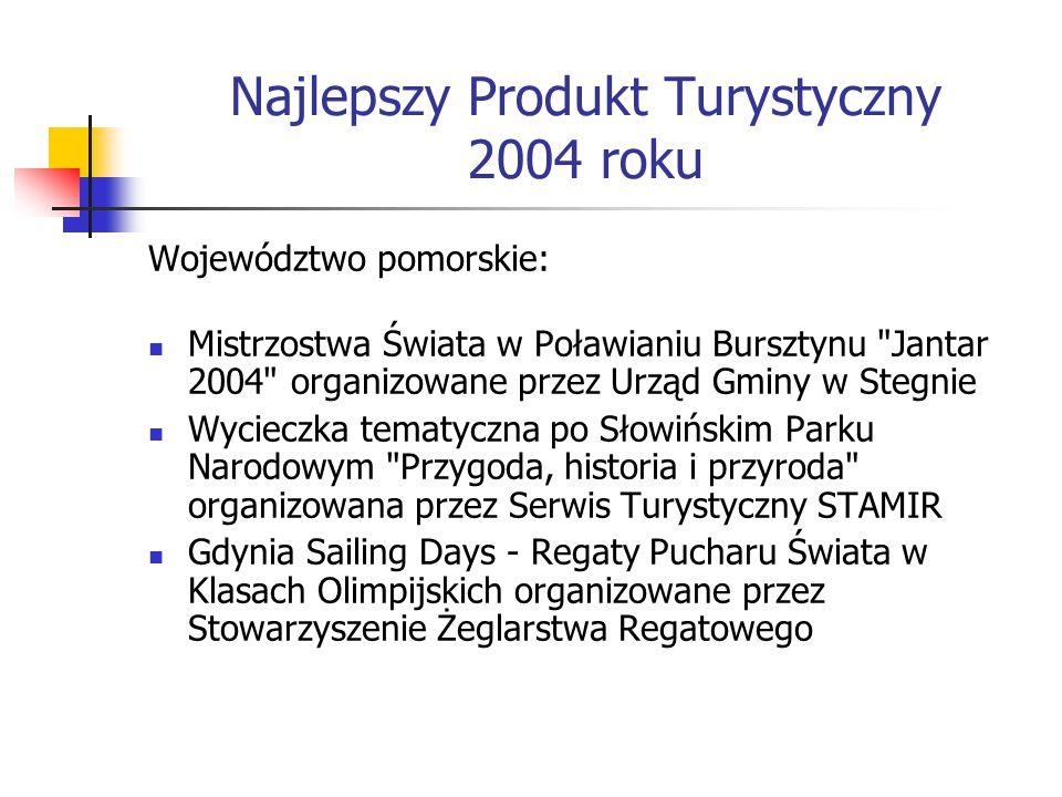 Najlepszy Produkt Turystyczny 2004 roku Województwo pomorskie: Mistrzostwa Świata w Poławianiu Bursztynu