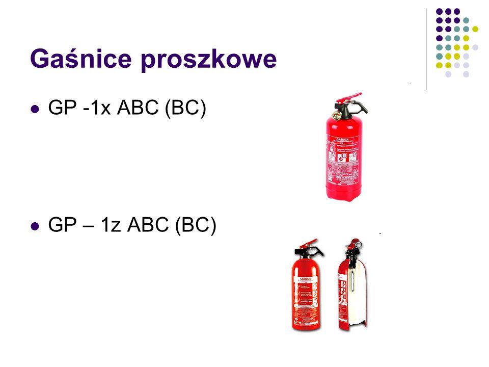 Gaśnice proszkowe GP -1x ABC (BC) GP – 1z ABC (BC)