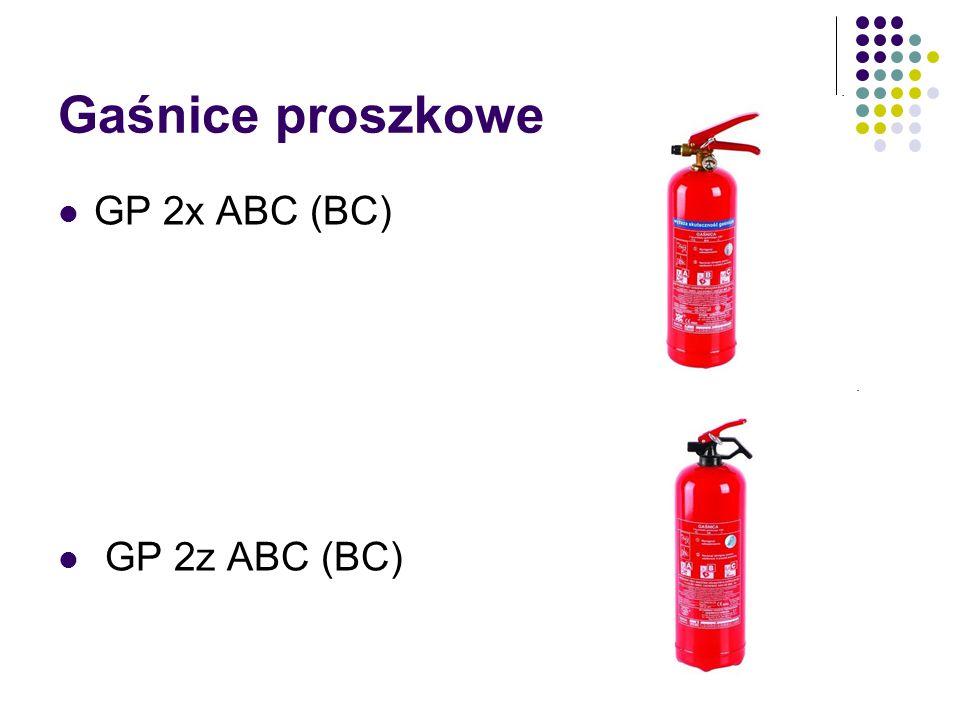 Gaśnice proszkowe GP 2x ABC (BC) GP 2z ABC (BC)