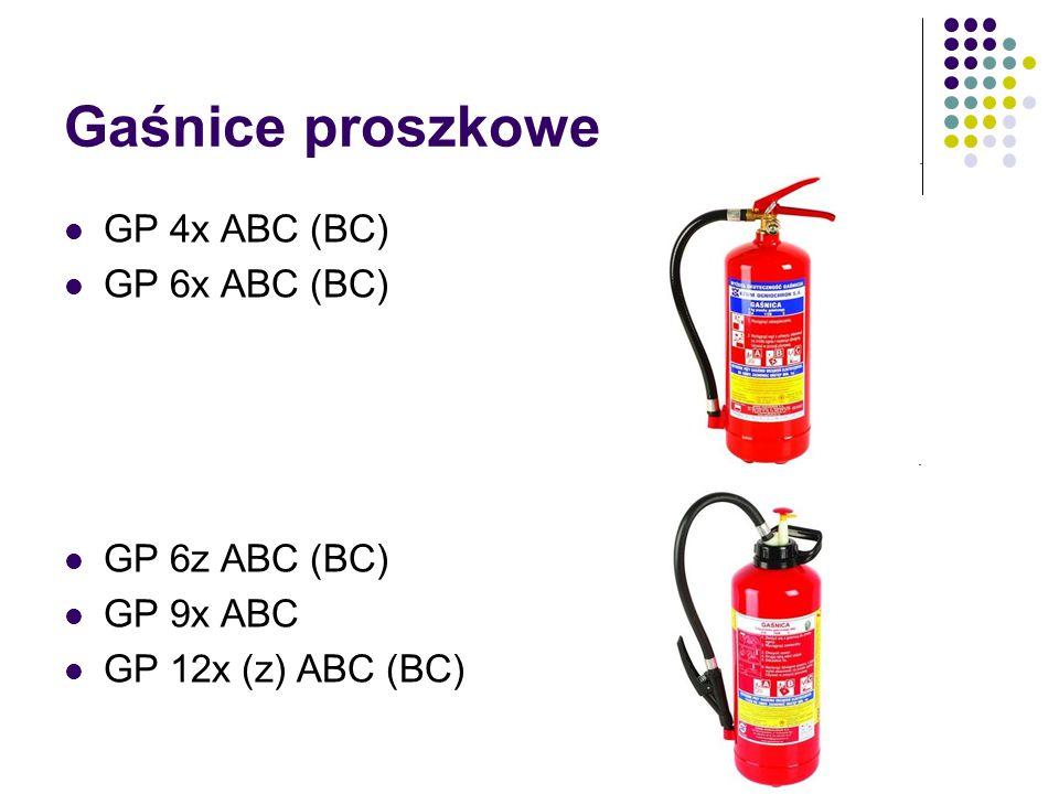 Gaśnice proszkowe GP 4x ABC (BC) GP 6x ABC (BC) GP 6z ABC (BC) GP 9x ABC GP 12x (z) ABC (BC)