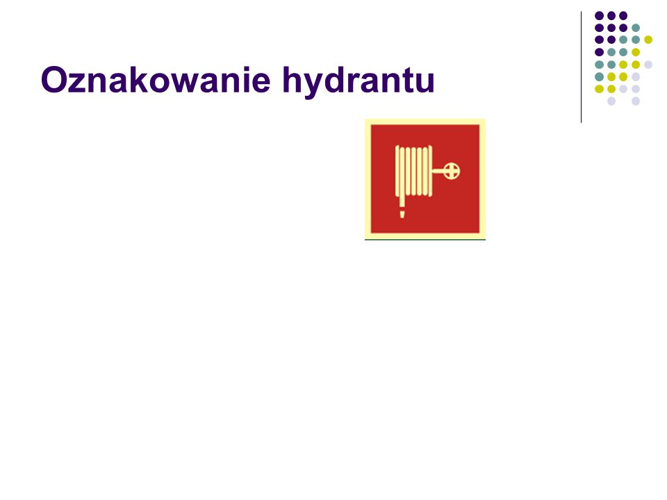 Oznakowanie hydrantu